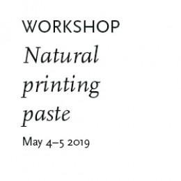 Printing pastes  4-5 May at Atelier Fiberfusing